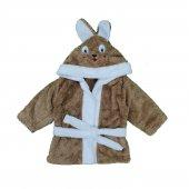 Erkek Bebek Şapkası Tavşanlı Bornoz 1 3 Yaş Kahve C74076 1