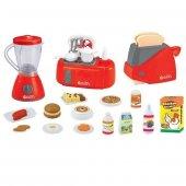 Oyuncak Aksesuarlı 3lü Küçük Ev Aletleri Mutfak Seti