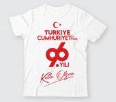 TCB002 - Baskılı T-Shirt Cumhuriyet Bayramı Tişört Dizayn 29 Ekim Tshirt Bastırmak Okul İçin Toplu Tasarım Tişört