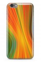 Apple İphone 6 6s Kılıf Silikon Arka Kapak Koruyucu Sarı Kırmızı
