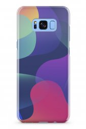 Samsung Galaxy S8 Plus Kılıf Silikon Arka Kapak Koruyucu Renkli D