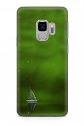 Samsung Galaxy S9 Kılıf Silikon Arka Kapak Koruyucu Yeşil Gemi De