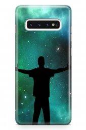 Samsung Galaxy S10 Kılıf Silikon Arka Kapak Koruyucu Gecenin Adam