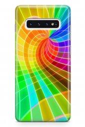 Samsung Galaxy S10 Kılıf Silikon Arka Kapak Koruyucu Sarı Yeşil P