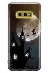 Samsung Galaxy S10e Kılıf Silikon Arka Kapak Koruyucu Ay Cadı Des