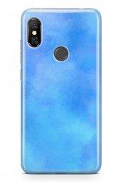 Xiaomi Redmi Note 6 Pro Kılıf Silikon Arka Kapak Koruyucu Mavi Ha