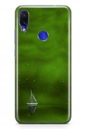 Xiaomi Redmi Note 7 Kılıf Silikon Arka Kapak Koruyucu Yeşil Gemi