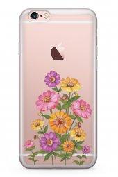 Apple İphone 6 6s Kılıf Silikon Arka Kapak Koruyucu Pem Sarı Mor