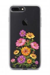 Apple İphone 7 Plus Kılıf Silikon Arka Kapak Koruyucu Pem Sarı Mo