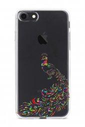 Apple İphone 8 Kılıf Silikon Arka Kapak Koruyucu Tavuz Kuşu Renga