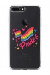 Apple İphone 8 Plus Kılıf Silikon Arka Kapak Koruyucu Pride Bayra