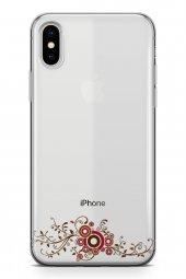 Apple İphone Xs Kılıf Silikon Arka Kapak Koruyucu Asma Yaprakları