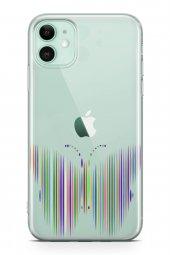 Apple İphone 11 Kılıf Silikon Arka Kapak Koruyucu Çizgisel Kelebe-2