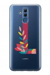 Huawei Mate 20 Lite Kılıf Silikon Arka Kapak Koruyucu L Harfi Çiç-2