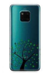 Huawei Mate 20 Pro Kılıf Silikon Arka Kapak Koruyucu Kelebek Kuşl-2