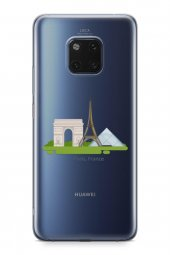 Huawei Mate 20 Pro Kılıf Silikon Arka Kapak Koruyucu Paris Fransa