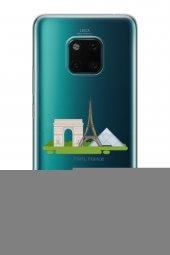 Huawei Mate 20 Pro Kılıf Silikon Arka Kapak Koruyucu Paris Fransa-2