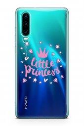 Huawei P30 Kılıf Silikon Arka Kapak Koruyucu Küçük Prenses Desenl-2