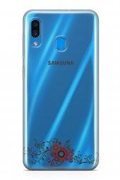 Samsung Galaxy A40 Kılıf Silikon Arka Kapak Koruyucu Asma Yaprakl