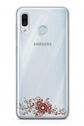 Samsung Galaxy A40 Kılıf Silikon Arka Kapak Koruyucu Asma Yaprakl-2