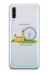 Samsung Galaxy A50 Kılıf Silikon Arka Kapak Koruyucu Londra İngil