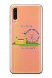 Samsung Galaxy A50 Kılıf Silikon Arka Kapak Koruyucu Londra İngil-2