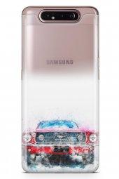 Samsung Galaxy A80 Kılıf Silikon Arka Kapak Koruyucu Mustang Dese-2