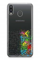 Samsung Galaxy M20 Kılıf Silikon Arka Kapak Koruyucu Kafamda Deli