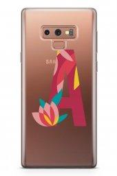 Samsung Galaxy Note 9 Kılıf Silikon Arka Kapak Koruyucu A Harfi Ç