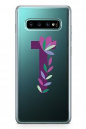 Samsung Galaxy S10 Plus Kılıf Silikon Arka Kapak Koruyucu T Harfi