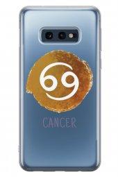 Samsung Galaxy S10e Kılıf Silikon Arka Kapak Koruyucu Burçlar Yen