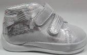 Pappikids227 Gümüş Ortopedik Deri Kız Çocuk İlk Adım Ayakkabısı Kışlık Bot