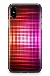 Apple İphone Xs Kılıf Silikon Arka Kapak Koruyucu Aurora Desenli