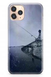 Apple İphone 11 Pro Kılıf Silikon Arka Kapak Koruyucu Balıkçı Kız