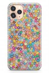 Apple İphone 11 Pro Kılıf Silikon Arka Kapak Koruyucu Minik Çiçek