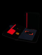 2k 555 1 Sekreterlik A4 Hesap Makineli El Portföyü Fermuarlı Çift Mekanizmalı Suni Deri Sekreter Notluğu, Siyah