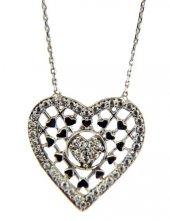 Kalpli Bayan Gümüş Kolye