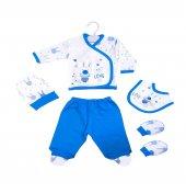 Mavi Tavşan Hastane Çıkışı Yeni Doğan Bebek 5 Parç...