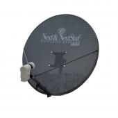 Next 80 Cm Delikli 0,6 Mm. Gri Renk Ofset Çanak Anten
