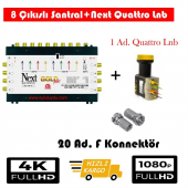 Next 10 8 Sonlu Santral+1 Ad. Qattro Lnb+20 Ad. F Konnektör
