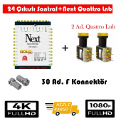Next 10 24 Sonlu Santral+2 Ad. Qattro Lnb+30 Ad. F Konnektör