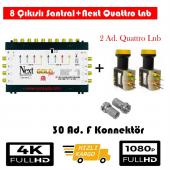 Next 10 8 Sonlu Santral+2 Ad. Qattro Lnb+30 Ad. F Konnektör
