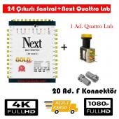 Next 10 24 Sonlu Santral+1 Ad. Qattro Lnb+20 Ad. F Konnektör