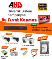 Ahd 4 Kameralı 2.0 Mp Güvenlik Kamera Seti