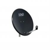 Sab 80 Cm Antrasit Ofset Çanak Anten