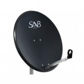 Sab 120 Cm Antrasit Ofset Çanak Anten
