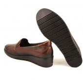 Forelli 25109 Kadın Taba Deri Halluks Comfort Ayakkabı -2