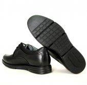 Forelli 69001-H Merdane Hafif Taban Geniş Kalıp Siyah Ayakkabı -2