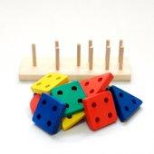 Renkli Bultak Dikdörtgen Ahşap Eğitici Oyuncak-2