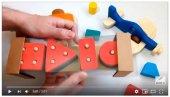 Renkli Bultak Dikdörtgen Ahşap Eğitici Oyuncak-4